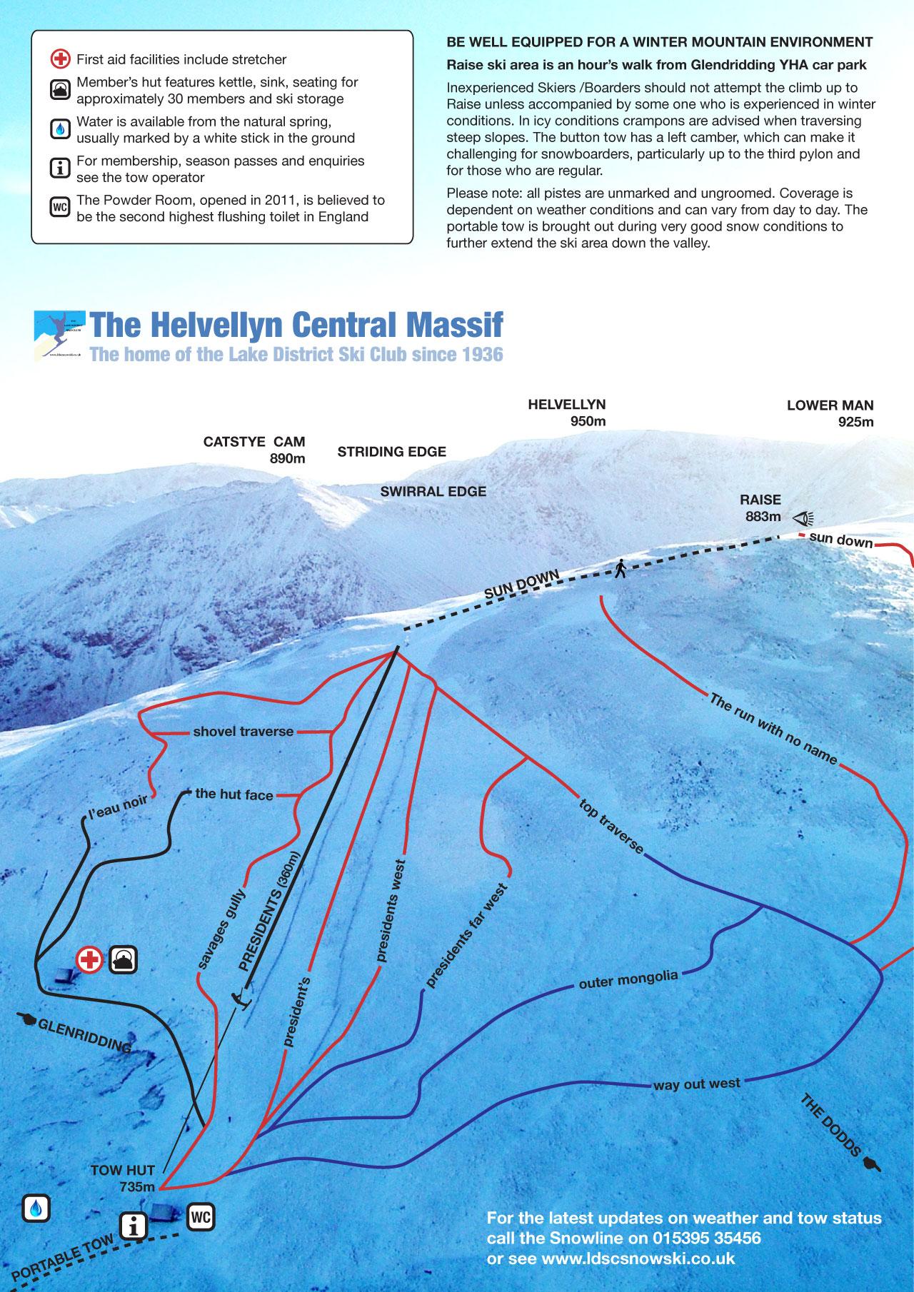 Map Of England Lake District.The Lake District Ski Club